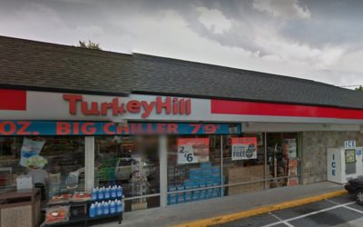 Inspection Millersville Turkey Hill; 7 violations, White mildew type residue and dust accumulation on the shelf units and racks in the walk-in cooler