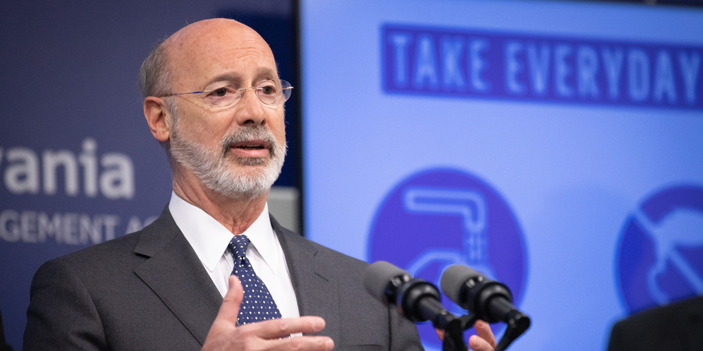 Tom Wolf: Legislature Cannot End Disaster Declaration Unilaterally