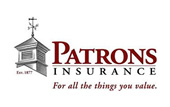Logo for Patrons Insurance.
