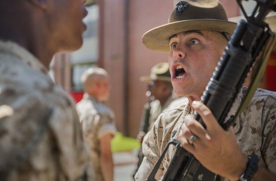 Sgt. Jonathan B. Reeves currently serves as a Marine Corps drill instructor with Platoon 1085, Charlie Company, 1st Recruit Training Battalion, at Marine Corps Recruit Depot Parris Island, S.C. Reeves joined the Marine Corps in September 2009 and became a drill instructor in January 2015. Reeves is a native of Augusta, Ga. About 600 Marine Corps drill instructors shape the approximately 20,000 recruits who come to Parris Island annually into basic United States Marines. Parris Island is home to entry-level enlisted training for 50 percent of males and 100 percent of females in the Marine Corps. (Photo by Pfc Aaron Bolser)