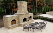 Chestnut Travertine Fireplace
