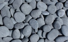 Black Beach Pebbles