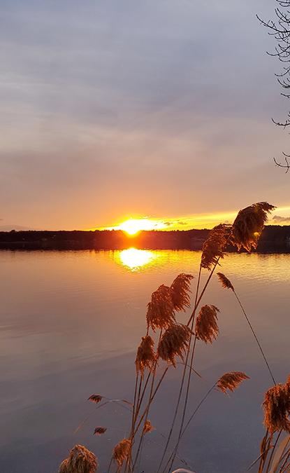 sunset on saratoga lake