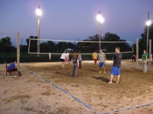 volleyball under the lights