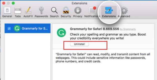 delete MyCouponsmart Chrome Extension from safari