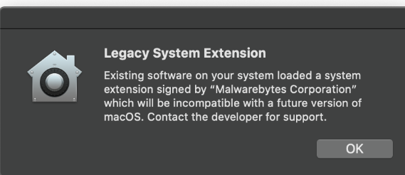 Legacy System Extension POP-UP