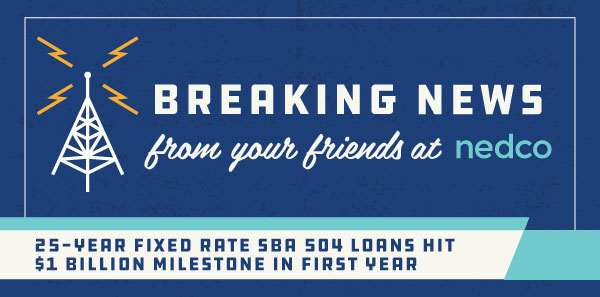 25-year SBA 504 Loan Program hits $1 Billion in Funding for Small Businesses Nationwide. Yes, $1 Billion