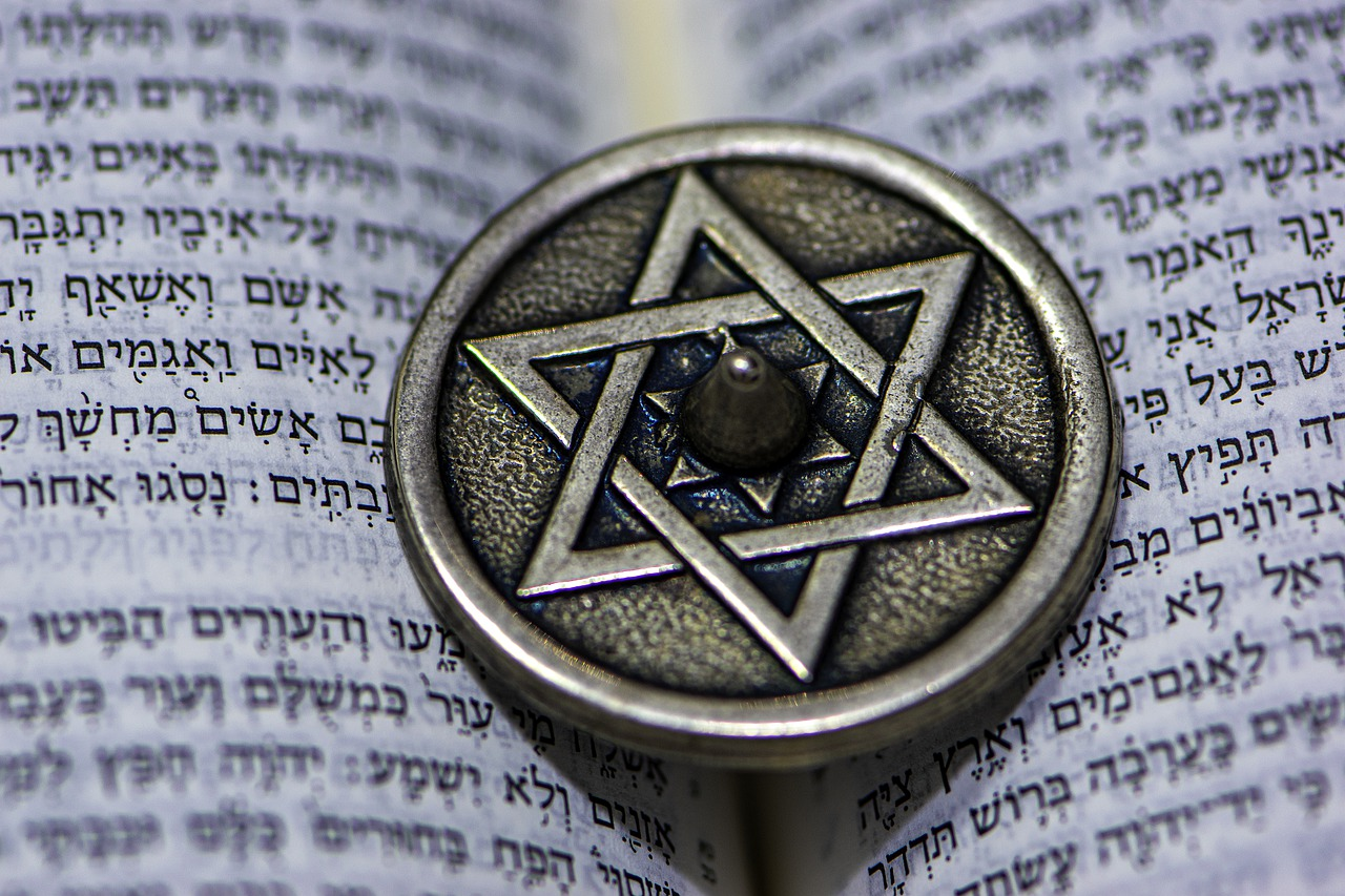 star of david, dreidel, jewish