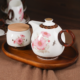 Bone China Tea Set with Sturdy Teapot and Floral Designed Cups