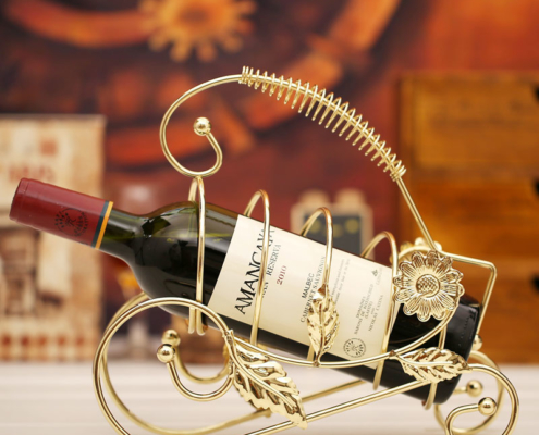 Wrought-Iron Free-Standing Wine Rack Fashionable & Elegant