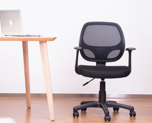 Ergonomic Mesh Office Chair with Lumbar Support, Back Swivel, and Armrests