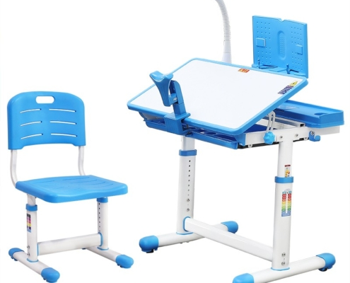 Adjustable Childrens Multifunction Desk Set with Storage Compartment for Kids