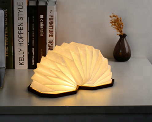 Rechargeable, Fully Adjustable 360 Degrees Book-Shaped LED Lamp