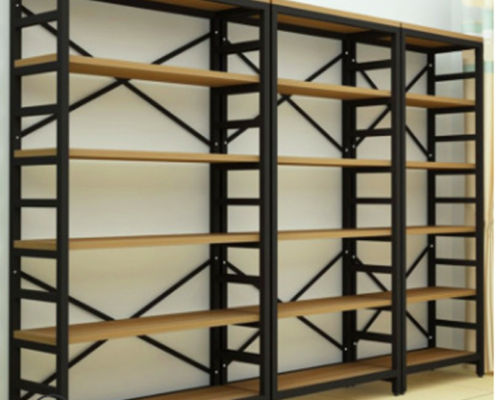 6-Shelf Double MDF Bookcase