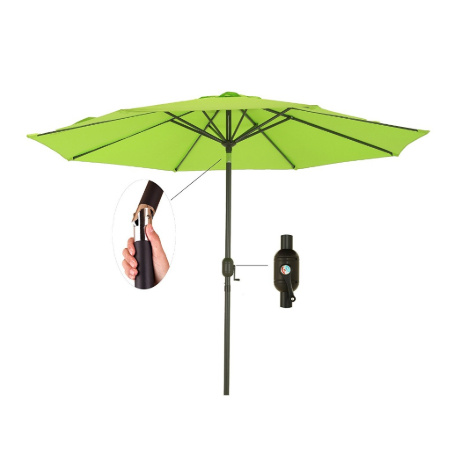 Patio & Outdoor Table Market Umbrella with Push Button Tilt