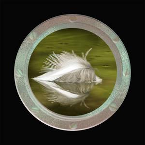 Serving Plate-Flotsam Feather