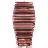 Stylish High Waist Formal Long Striped Skirts Women Sheath Skirts-Best Womens Clothes Online in Kenya