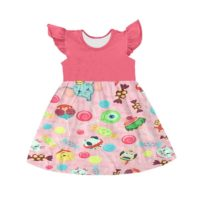 Sweet Baby Girls Dresses Colorful Sleeveless Ruffles Children Clothes Boya Factory Girl Clothing Supplier-Kids clothing store in Kenya