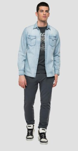 DENIM SHIRT WITH POCKETS AGED 10 YEARS IN KENYA