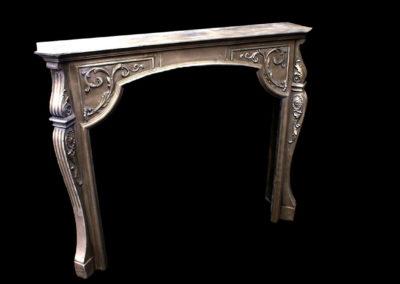 Zinc Fireplace Mantle - La Bastille