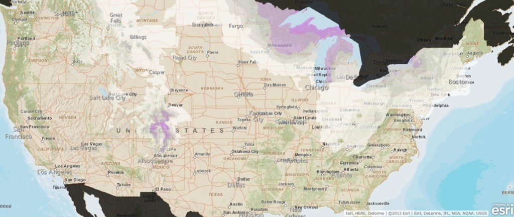 Esri ArcGIS Snowfall Forecast Map