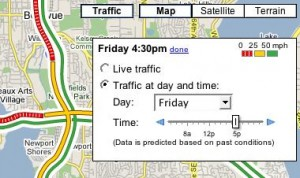 Screenshot of Google Traffic (Source: Google; click to enlarge)