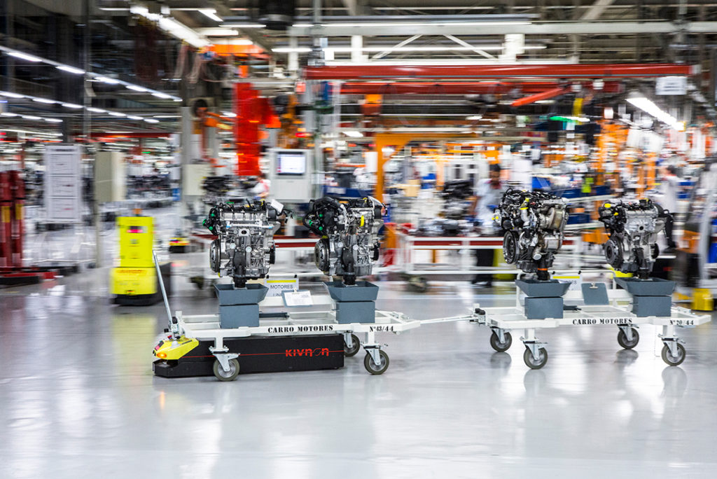 AGVs support a flexible assembly line