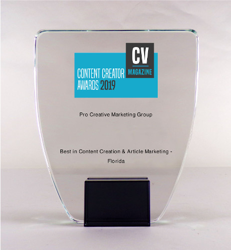 award winning small business marketing content