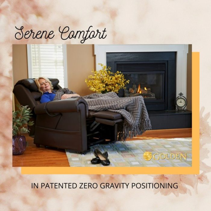 photo of a Golden Technology Power Lift Recliner in Zero Gravity Positioning