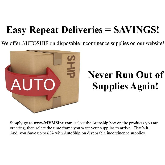 photo of Autoship ad for disposable incontinence supplies