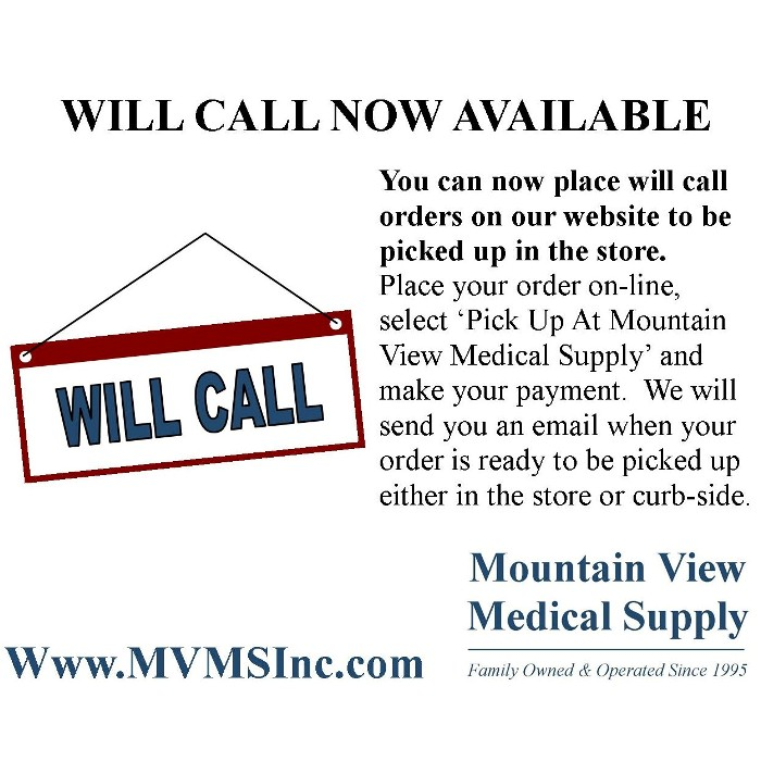 photo of Will Call Ad for MVMS Website orders