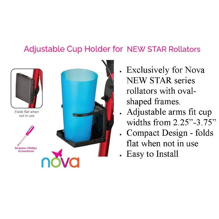 photo of Nova Adjustable Cup Holder for NEW STAR Rollators