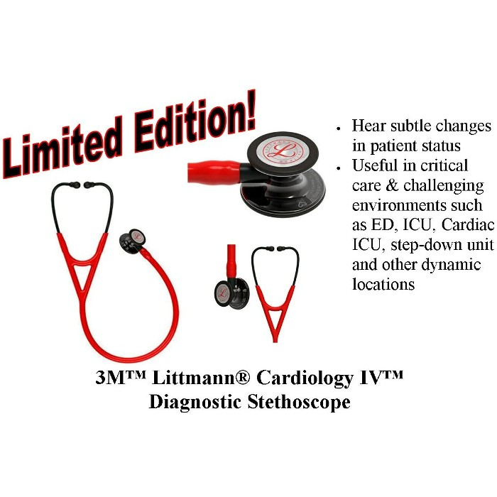 3M Littmann Cardiology IV Diagnostic Stethoscope Limited Edition 6182