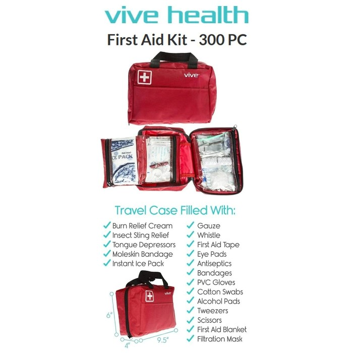Vive Health First Aid Kit RHB1053L