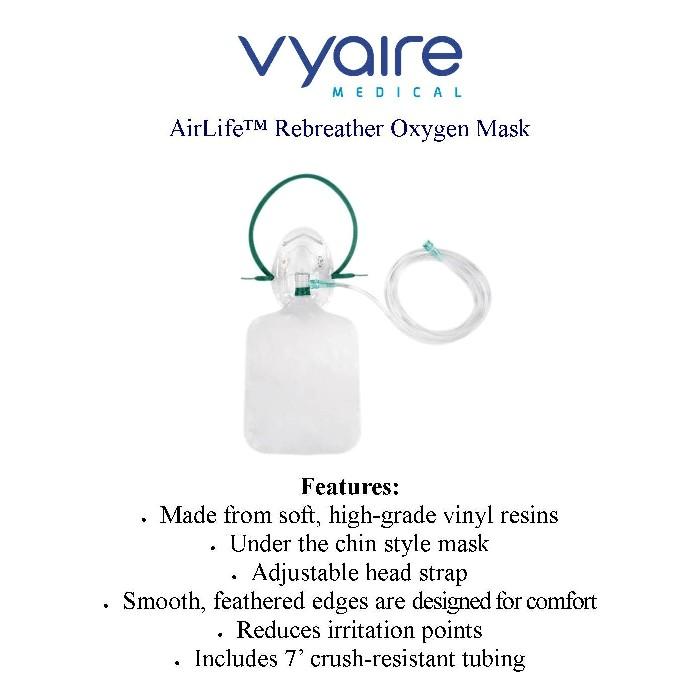 Vyaire Medical Rebreather Oxygen Mask