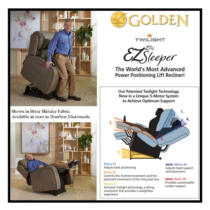 photo of Golden Technologies EZ Sleeper Lift Recliner PR761MLA from Mountain View Medical Supply