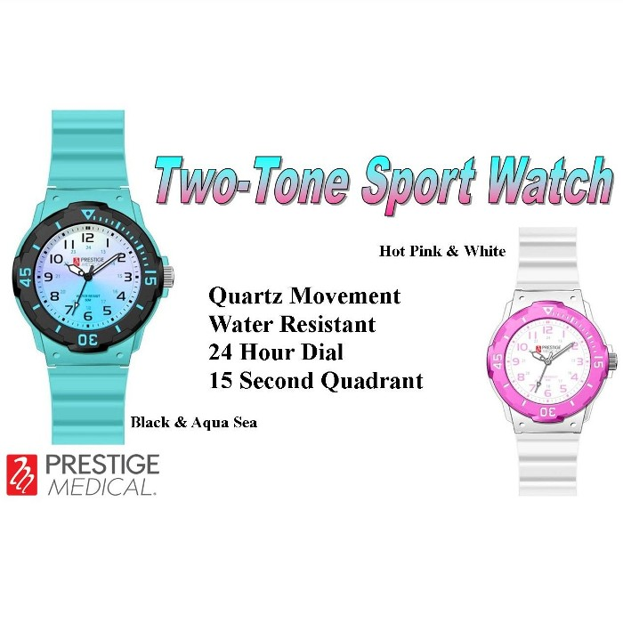 photo of Prestige Medical Two Tone Sport Watch from Mountain View Medical Supply