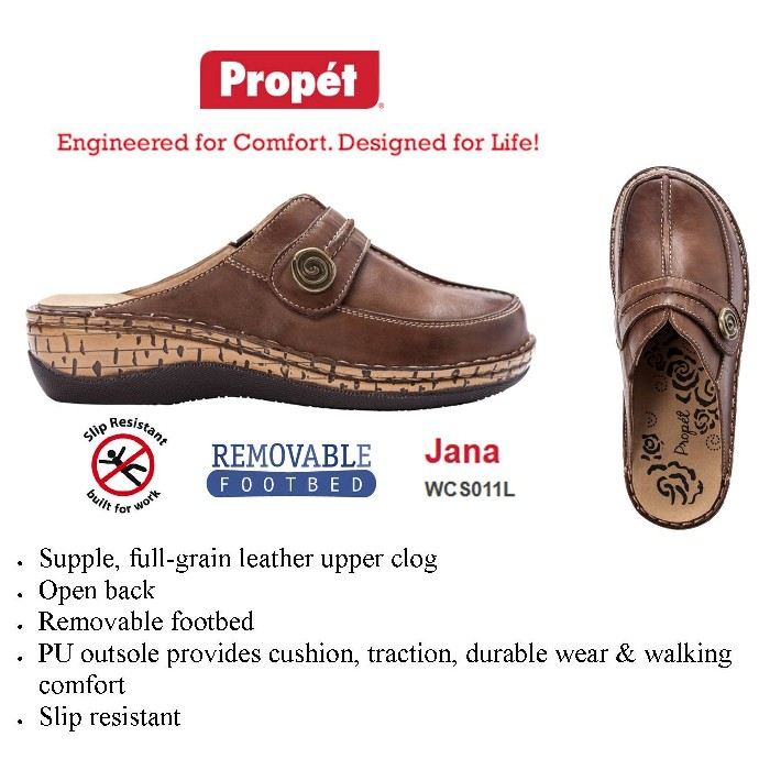 photo of Propet Jana Shoe PTWCS011L in Brown from Mountain View Medical Supply
