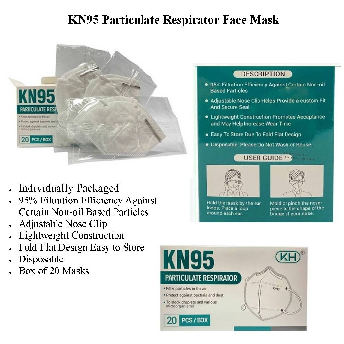 photo of KN95 Particulate Respirator Face Mask from Mountain View Medical Supply