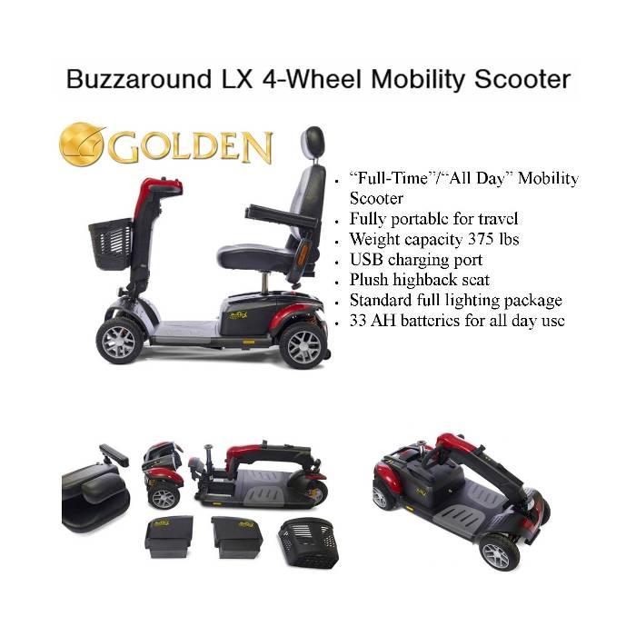 photo of GB149 Golden Technology Buzzaround LX Mobility Scooter from Mountain View Medical Supply