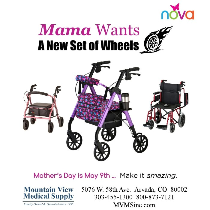 Mama Wants a New Set of Wheels Nova 4 wheel walkers, transport chairs, wheelchairs, rollators from Mountain View Medical Supply