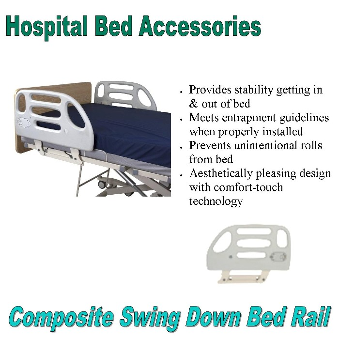 photo of Composite Swing Rail for Hospital Bed from Mountain View Medical Supply