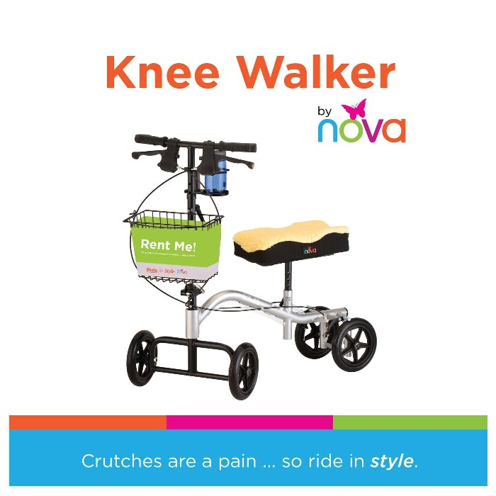 photo of Nova TKW-12 Knee Walker available for purchase or rental from Mountain View Medical Supply