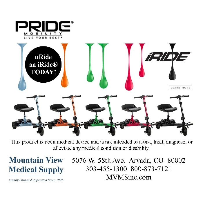 Pride Mobility iRide S25 Scooter from Mountain View Medical Supply
