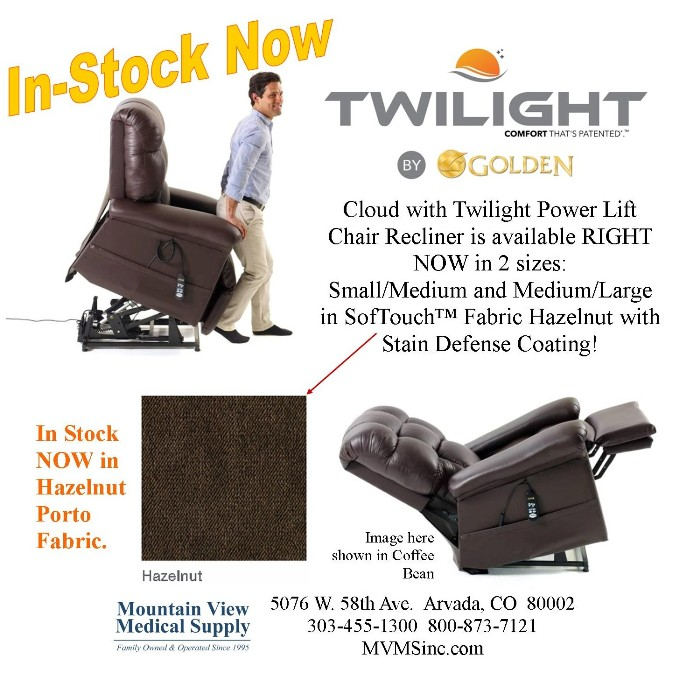 photo of Golden Technologies Cloud with Twilight Power Lift Chair Recliner PR515MLA-PHA & PR515SME-PHA from Mountain View Medical Supply
