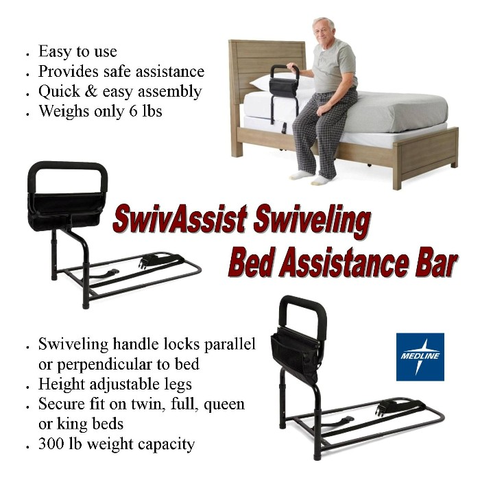 photo of SwivAssist Swiveling Bed Assistance Bar MDS6800SWIV from Mountain View Medical Supply