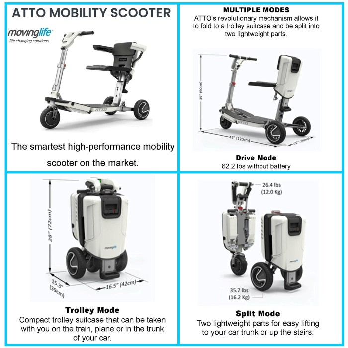 photo of ATTO Mobility Scooter by Moving Life from Mountain View Medical Supply