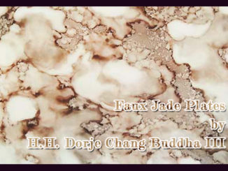 Faux Jade Plates by H.H. Dorje Chang Buddha III _1