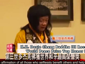 H.H. Dorje Chang Buddha III Receives World Peace Prize Top Honor Prize