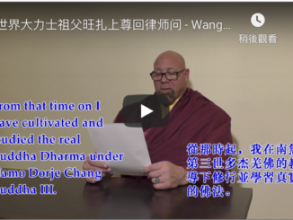 "Wangzha Shangzun ""Grandfather"" of Strongman, Replies to Attorney's Questions"